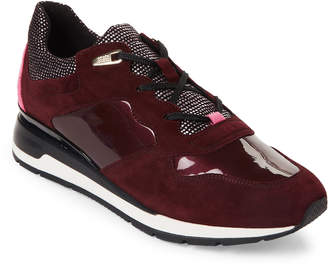 Geox Dark Burgundy Shakira Trainer Sneakers