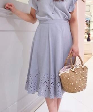 Noela (ノエラ) - Noela 【セットアップ対応商品】カットワーク刺繍フレアスカート