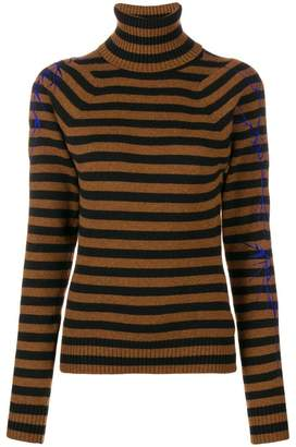 Haider Ackermann striped roll neck jumper
