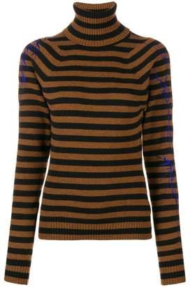 Haider Ackermann striped roll neck jumper