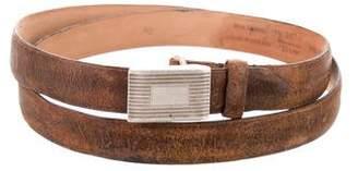 Rag & Bone Leather Buckle Belt