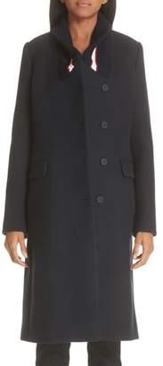 Stella McCartney Knit Collar Wool Coat