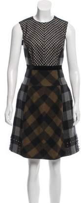 Etro Wool Printed Dress Grey Wool Printed Dress