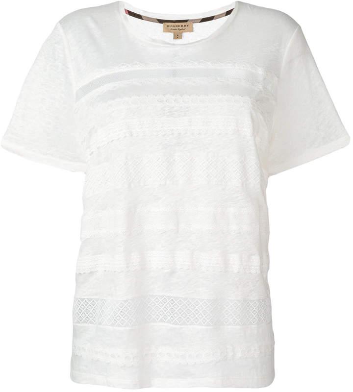 Burberry lace detail T-shirt
