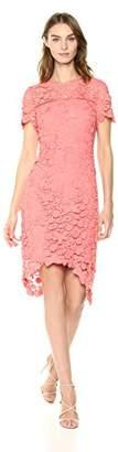 Shoshanna Women's Dalia Short Sleeve Lace Shift Dress