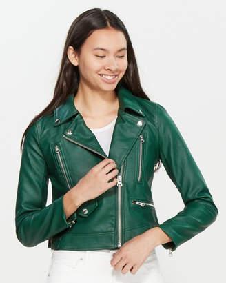 Love Tree Faux Leather Moto Jacket