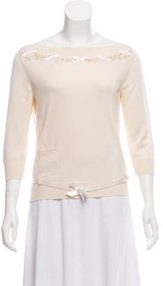Christian Dior Bowtie Silk Sweater