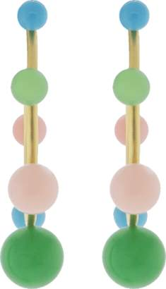 Irene Neuwirth JEWELRY Turquoise Chrysoprase Pink Opal Earrings