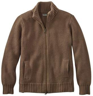L.L. Bean L.L.Bean Men's Signature Mapleton Wool Sweater, Zip Cardigan
