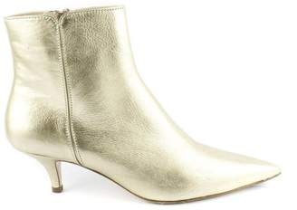 Roberto Festa Gold Calf Leather Ankle Boots