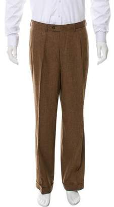 Luciano Barbera Pleated Wool Pants