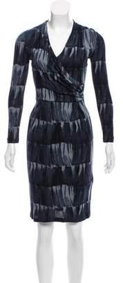 Armani Collezioni Printed Long Sleeve Dress