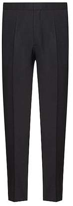 HUGO BOSS Extra-slim-fit virgin-wool trousers with cropped length