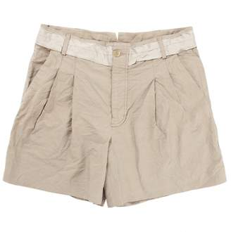 Viktor & Rolf Beige Cotton Shorts for Women
