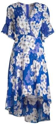 Elie Tahari Ava Floral Chiffon Dress
