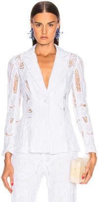 Alexis Durham Blazer in White | FWRD