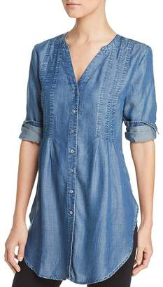 Liverpool Los Angeles Liverpool Chambray Button-Down Tunic