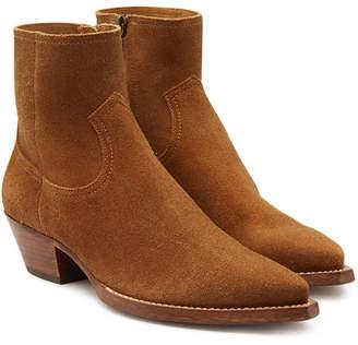 Saint Laurent Santigo Suede Ankle Boots