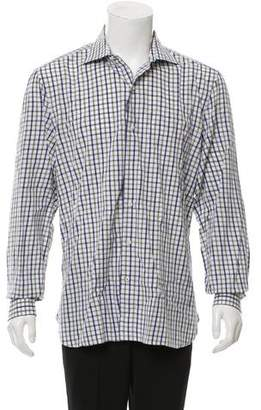 Isaia Plaid Button-Up Shirt