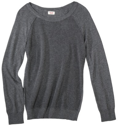 Mossimo Juniors Raglan Sleeve Textured Pullover - Assorted Colors