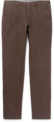 Ermenegildo Zegna Garment-Dyed Stretch-Cotton Twill Trousers