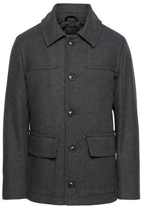 Banana Republic Italian Melton Wool Blend Two-Pocket Coat