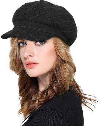 5cf96d05494 at Amazon Canada · doublebulls hats Plaid Newsboy Cap Womens Ladies Winter  Paperboy Cap 6 Pieces Cute Hat