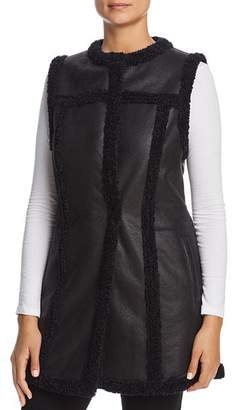 Nic+Zoe Drama Long Faux-Leather Vest