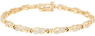 """Affinity Diamond Jewelry 7-1/4"""" Diamond Tennis Bracelet, 1/4 cttw, Ster.by Affinity"""