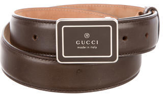 Gucci Gucci Leather Logo Belt