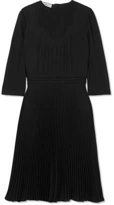 Prada Paneled Georgette Dress - Black