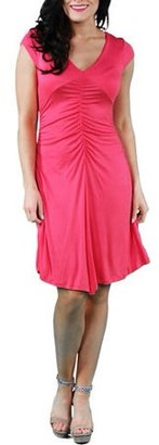 24/7 Comfort Apparel Women's Shirred Front Dress