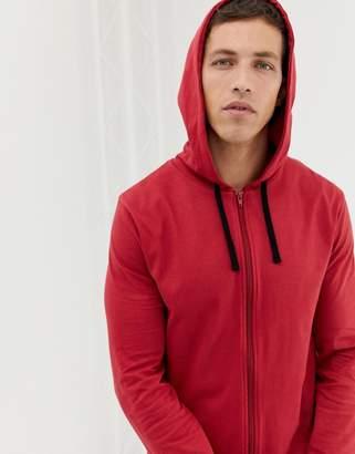 Rusty ASOS DESIGN hooded onesie in red