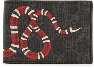 Gucci Snake Print Supreme Bifold Wallet
