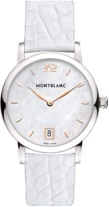 Montblanc Mont Blanc Women's Star Classique 108765 Alligator Leather Swiss Quartz Watch