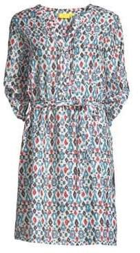 Roller Rabbit Richen Violet Print Dress
