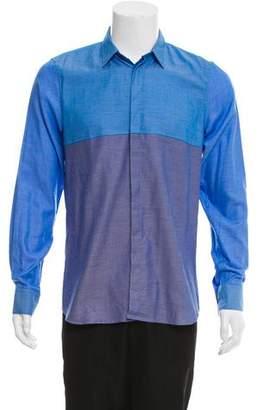 Calvin Klein Collection Colorblock Button-Up Shirt