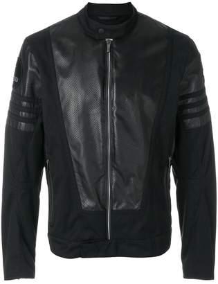 Fendi perforated leather bomber jacket