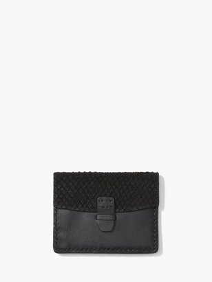 Back Snake Leather Card & Coin Case $228 thestylecure.com