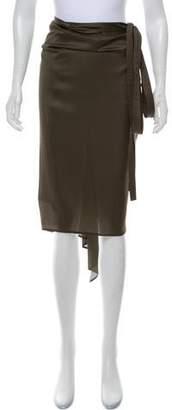 Donna Karan Silk Wrap Skirt