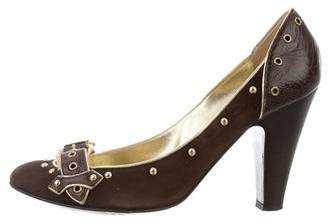 Giuseppe Zanotti Suede Buckle-Accented Pumps buy cheap 100% authentic outlet locations cheap online y8N2xX
