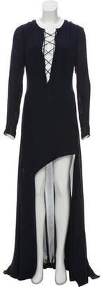 Barbara Bui Long Sleeve Maxi Dress