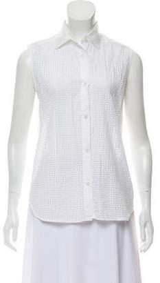 Tess Giberson Sleeveless Button-Up Top
