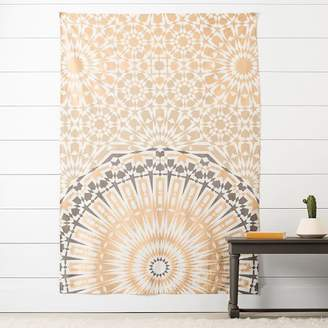 Pottery Barn Teen Mandala Tapestry, Gold/Gray, Gold/Teal Mandala Tapestry