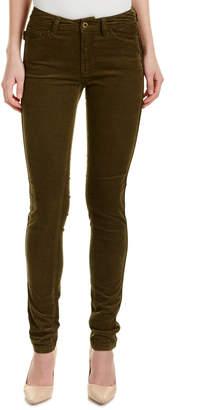 Zadig & Voltaire Eva Velours Bronze Leather-Trim Corduroy Skinny Leg