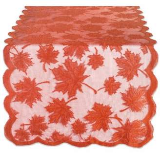 """Design Imports Lace Maple Leaf Table Runner - Spice - 18 X 72"""""""