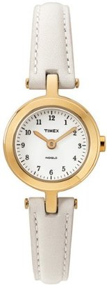 Timex Women's T2M482 Classic Cream Leather Strap Watch $37.50 thestylecure.com