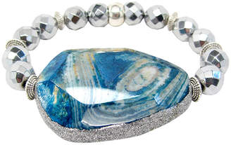 Dripping In Gems Jasper Pendant Bracelet