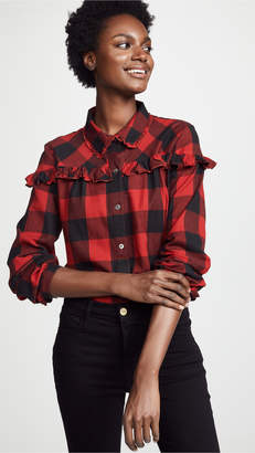 Frame Ruffle Button Up Shirt