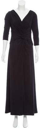 Tadashi Shoji Gathered Evening Dress